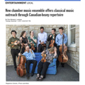 New ensemble offers classical music outreach Londoner 1
